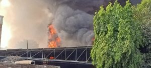Fire accident in morena