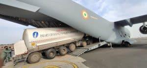 ऑक्सीजन लाने वायुसेना के विमान पर रवाना हुआ प्राण वायु का टैंकर