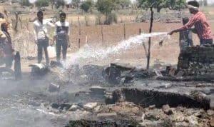 शिवपुरी : खाना बनाते समय फटा गैस सिलेंडर, पूरा घर जलकर खाक