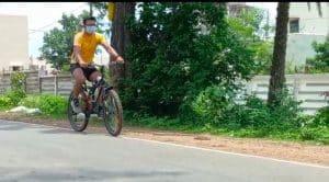 170 किमी सायकिलिंग कर प्रभार लेने बालाघाट पहुंचे प्रशिक्षु सहायक वन संरक्षक