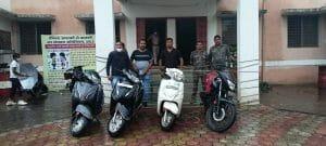 Balaghat: शौक ने बनाया चोर, 5 मोटरसाइकिल के साथ 4 आरोपी गिरफ्तार